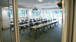 Renovations to the Bishop Library included the creation of a new classroom